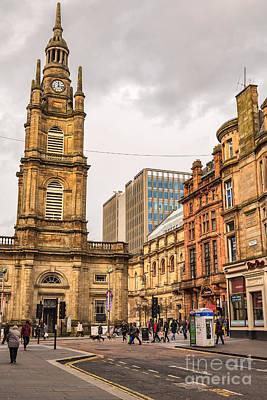 Glasgow Street Scene Art Print by Antony McAulay
