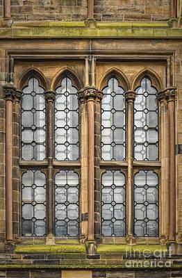 Glasgow Unversity Window Art Print by Antony McAulay