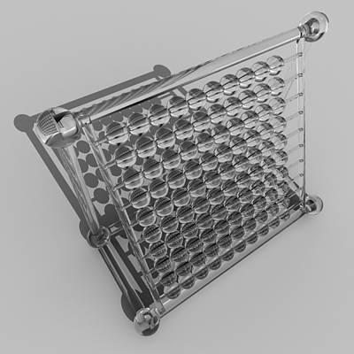 Digital Art - Glass Abacus R 039 A by Rolf Bertram