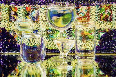 Photograph - Glass Absract by Menachem Ganon