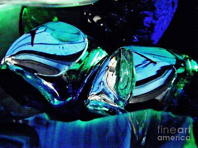 Blue And Turquoise Abstract Photograph - Glass Abstract 141 by Sarah Loft