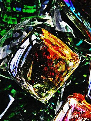 Glass Abstract 160 Art Print by Sarah Loft