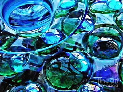 Glass Abstract 184 Art Print
