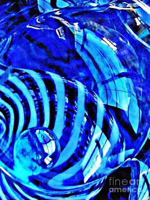 Glass Abstract 211 Art Print