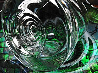 Photograph - Glass Abstract 417 by Sarah Loft