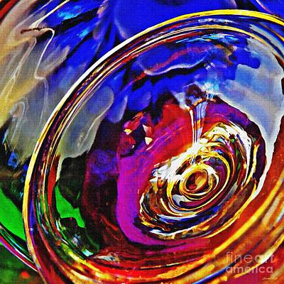 Photograph - Glass Abstract 549 by Sarah Loft