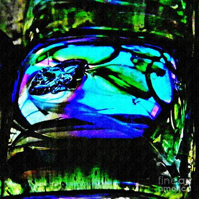 Dichroic Photograph - Glass Abstract 78 by Sarah Loft