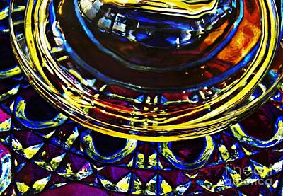 Photograph - Glass Abstract 784 by Sarah Loft
