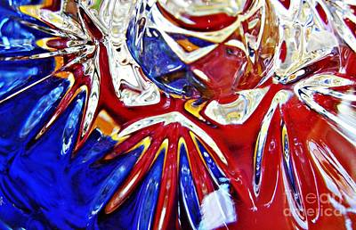 Photograph - Glass Abstract 786 by Sarah Loft