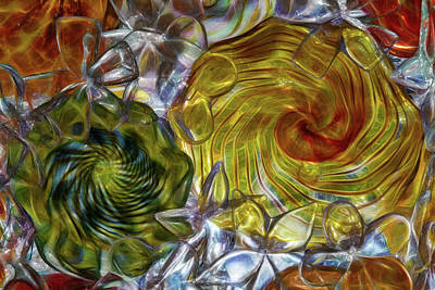 Photograph - Glass Abstract #2 by Patti Deters