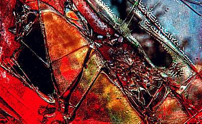 Photograph - Glass Abstraction 1 by Jim Vance