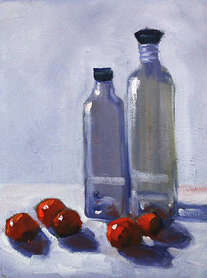 Painting - Glass And Cherries by Nancy Merkle