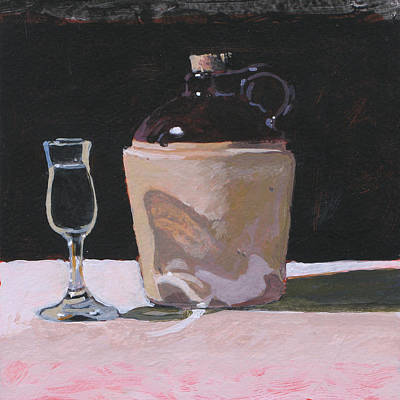 Glass And Jug Print by Robert Bissett