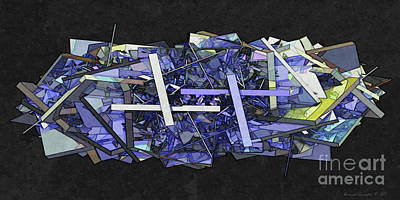 X-plane Digital Art - Glass And Metal In Symmetry - Amcg20170904 60 X 30 by Michael Geraghty