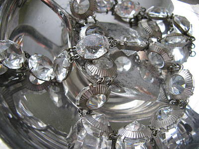 Costume Jewelry Photograph - Glass And Silver by Lindie Racz