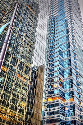 Photograph - Glass And Steel Skyscrapers by David Zanzinger