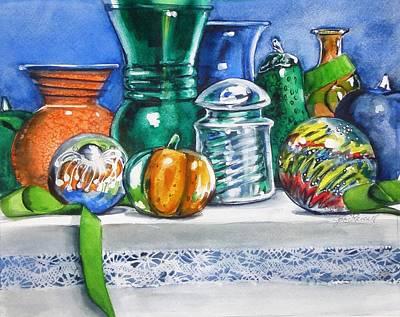 Glass And Tassel Art Print