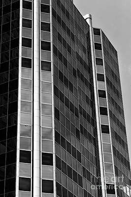 Photograph - Glass Angles In Vancouver Mono by John Rizzuto