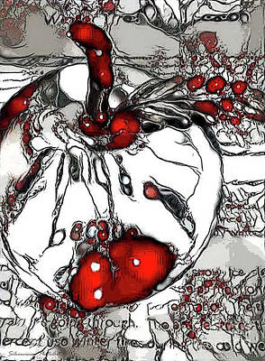 Photograph - Glass Apple Abstract For Teacher by Nina Silver