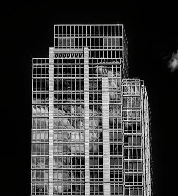 Clous Photograph - Glass Architecture And Clouds by Robert Ullmann
