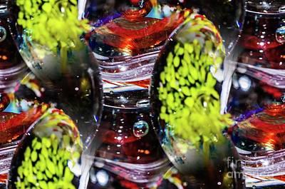 Photograph - Glass Ball Swirl by Gerald Kloss