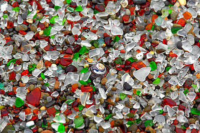 Pebble Beach Photograph - Glass Beach Fort Bragg Mendocino Coast by Christine Till