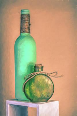 Photograph - Glass Bottle Composition by Tom Mc Nemar
