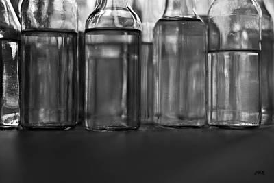 Photograph - Glass Bottles Bw II by David Gordon
