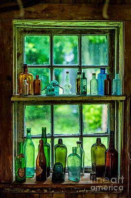 Photograph - Glass Bottles by M G Whittingham