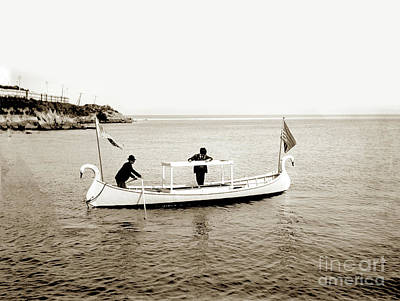 Photograph - Glass Bottom Boat On Monterey Bay Circa 1907 by California Views Mr Pat Hathaway Archives