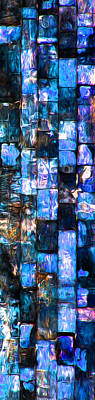 Photograph - Glass Bricks Blue by Stephanie Grant