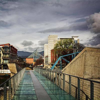 Glass Bridge To The Aquarium Art Print