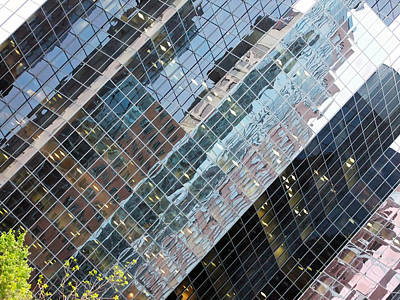 Glass Buildings 4 Art Print by Robert Knight