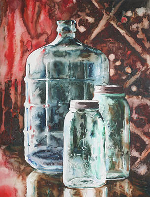 Wall Art - Painting - Glass Carboy by Jamie Hansen