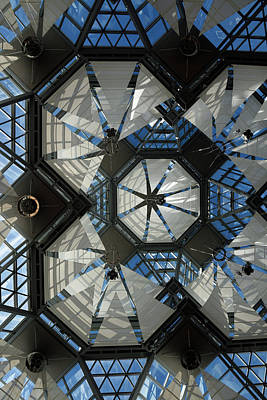 Photograph - Glass Ceiling With Sails At The Great Hall Of The National Galle by Reimar Gaertner