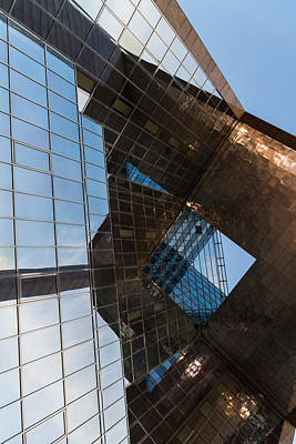 Photograph - Glass Copper And Steel Geometry - Fabulous Modern Architecture In London U K - Vertical by Georgia Mizuleva