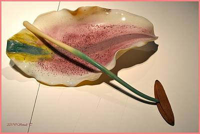 Sculpture - Glass Daylily Petal  by Sonali Gangane