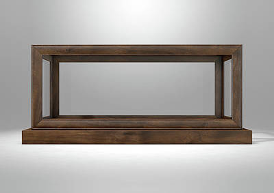 Glass Display Case Frame Horizontal Art Print