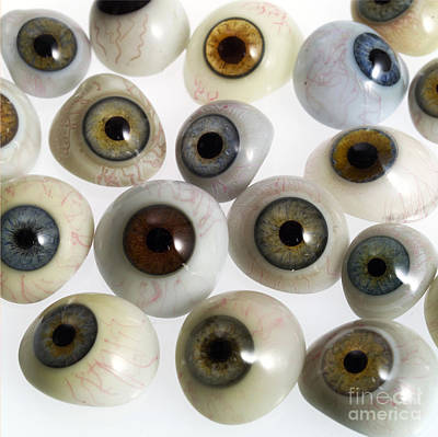 Photograph - Glass Eyes, Circa 1900 by Wellcome Images