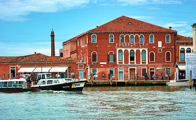 Photograph - Glass Factory In Murano by Eduardo Jose Accorinti