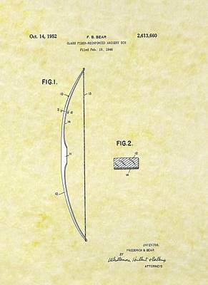 Drawing - Glass Fiber Bow Bear Patent by Movie Poster Prints