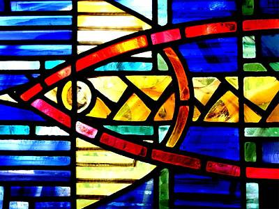 Stained Glass Fish Photograph - Glass Fish by Roberto Alamino