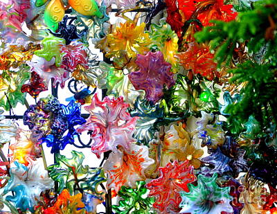 Photograph - Glass Flower Garden In The French Quarter Of New Orleans Louisiana by Michael Hoard
