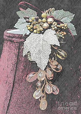 Photograph - Glass Grapes by Sherry Hallemeier