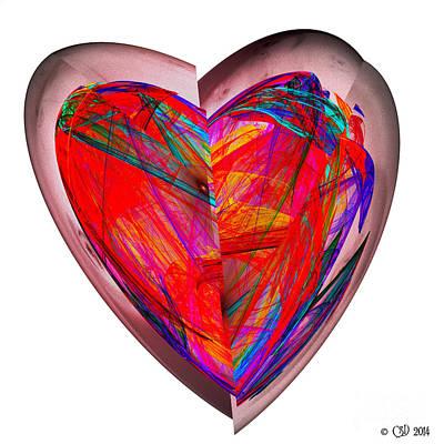 Fractal Digital Art - Glass Heart by Jane Spaulding