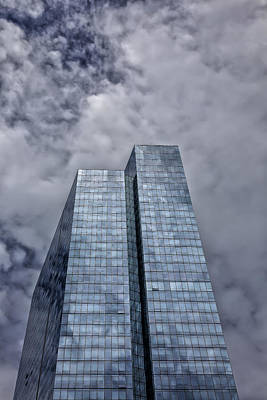 Glass High Rise And Clouds Art Print by Robert Ullmann