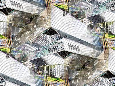 Library Digital Art - Glass House by Tim Allen