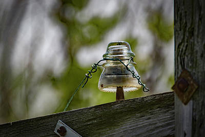 Photograph - Glass Insulator by Ray Congrove