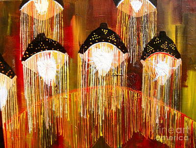 Glass Jellyfish Art Print by Sabrina Phillips