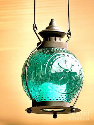 Photograph - Glass Lantern by Janice Drew